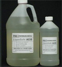 Jug and bottle of PRO-1 LiquaSafe Acid