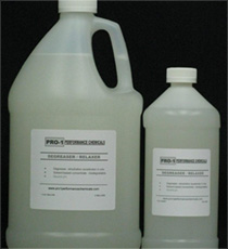Jug and bottle of PRO-1 Degreaser / Relaxer